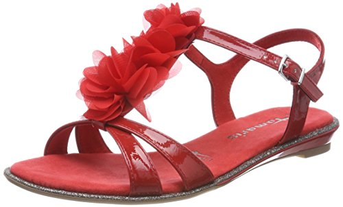 Sandals 28145 Donna Tamaris 533 Sling Back Red chili fI7fwaqT