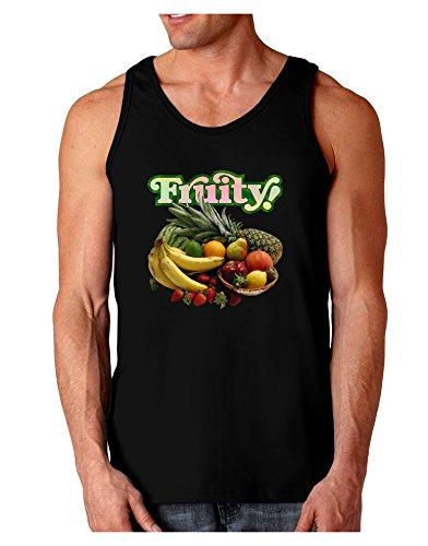 TooLoud Fruity Fruit Basket Dark Loose Tank Top - Black - Medium