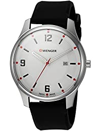 Men's 'City Active' Swiss Quartz Stainless Steel and Silicone Casual Watch, Color Black (Model: 01.1441.108)