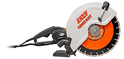 """Diamond Products Core Cut 48975 C14 Electric Hand Wet and Dry Concrete Saw, 14"""""""