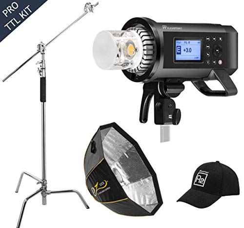 Olympus Imaging Kit - Flashpoint XPLOR 600PRO R2 TTL Battery-Powered Monolight Kit with Softbox and C-Stand