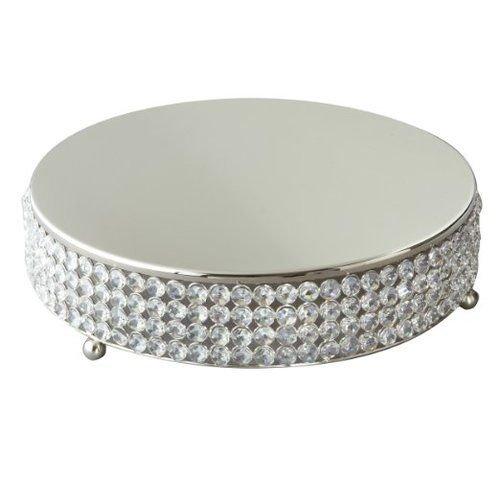 Elegance Silver Sparkle Round Cake Plateau 14-inch