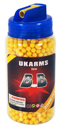 Ukarms 2000 PCS 6mm .12g Airsoft BB Pellets in Speed Loader Bottle