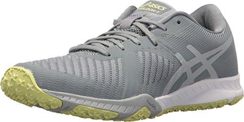 ASICS Women's Weldon X Stone Grey/Mid Grey/Limelight 8 B US B - Mid Cross Shoe Training