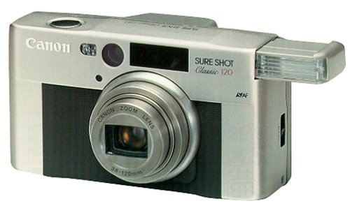 - Canon Sure Shot Classic 120 - Point & Shoot / Zoom camera - 35mm - lens: 38 mm - 120 mm - black, silver