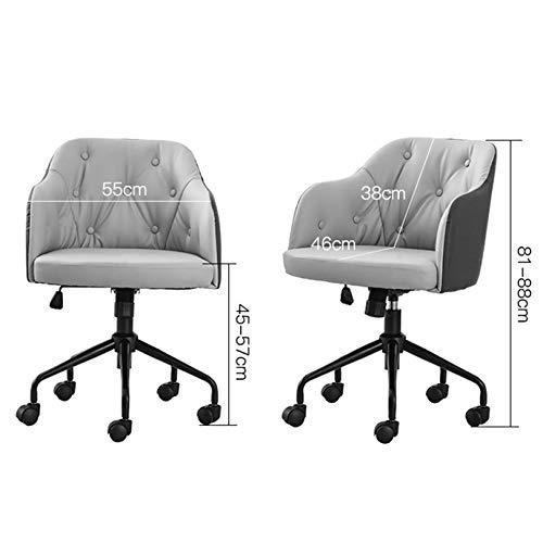 360° svängbara skrivbordsstolar dator kontorsstol med linne kudde och armstöd justerbar sitthöjd och ländrygg stöd