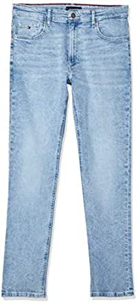 TOMMY HILFIGER Kids Logo Print Relaxed Fit Jeans, Isle Light Blue Print Stretch, 10
