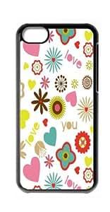 HeartCase Hard Case for Apple iPhone 5C ( Floral Pink Pattern )