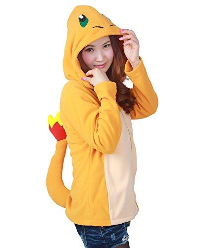 Charmander Hoodie (Es Unico Pokemon Charmander Hoodie For Adult and Teens (X-Large))