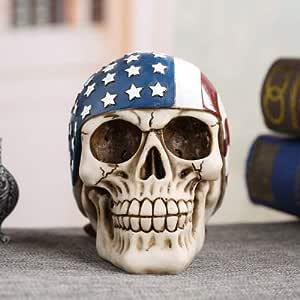 TKFY Resina Cráneo Decoración Esqueleto Tatuaje Ornamento Réplica ...