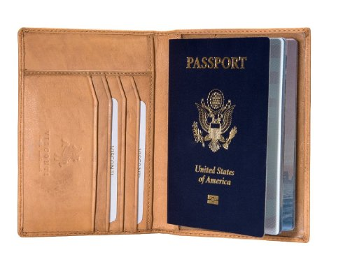 Visconti Soft Leather Secure RFID Blocking Passport Cover Wallet - POLO 2201, Sand, One Size