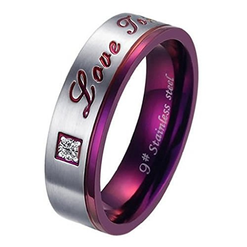 [Bishilin Stainless Steel Fashion Men's Rings Lovers Purple Silver Size 7] (The Real Batman Costume For Sale)