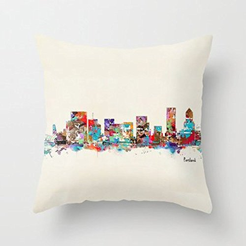 My Honey Pillow Portland Oregon Skyline Throw Pillow By Bri.Buckleyfor Your Home