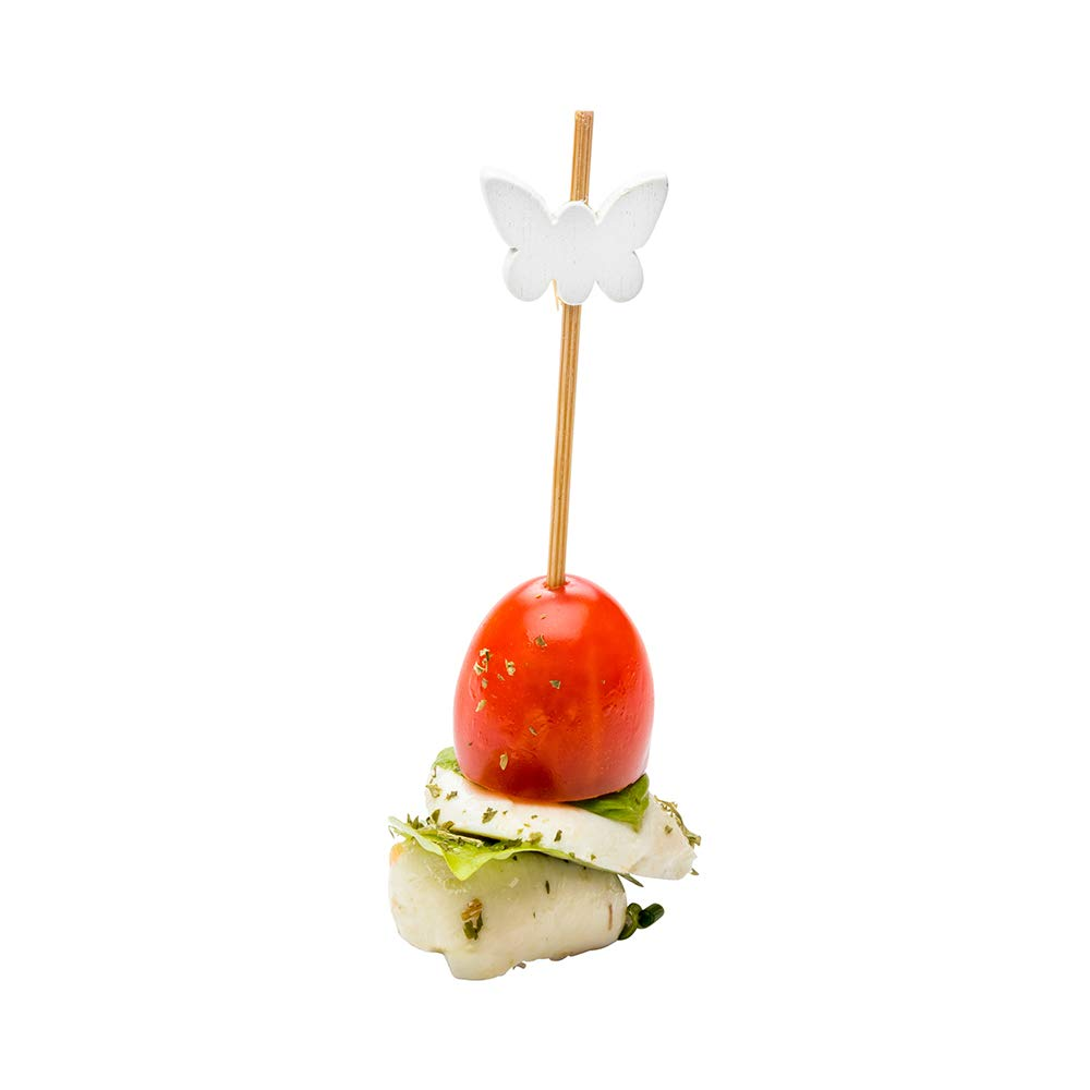 White Butterfly Bamboo Skewer 4 inch 1000 count box