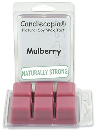 Candlecopia Mulberry Strongly Scented Hand Poured Vegan Wax Melts, 12 Scented Wax Cubes, 6.4 Ounces in 2 x 6-Packs