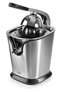 Lacor 69120 Exprimidor eléctrico con Brazo, Libre de BPA, 160 W, 120 W, 0.35 litros, Acero Inoxidable