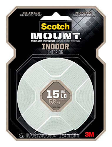 Scotch Indoor Mounting Tape, 1-inch X
