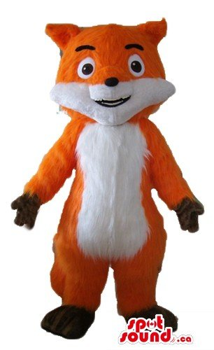 White and orange red fox animal SpotSound Mascot US costume fancy dress - Fox Costume Canada