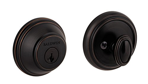 (Baldwin Prestige 380 Round Single Cylinder Deadbolt Featuring SmartKey in Venetian Bronze )
