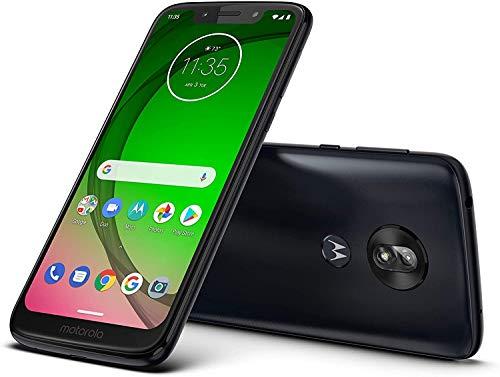"Motorola Moto G7 Play (32GB, 3GB RAM) 5.7"" HD+ Max Vision, Global 4G LTE GSM + CDMA T-Mobile Unlocked (Verizon, AT&T, Metro, Straight Talk) XT1952-4 (Black, 64GB SD Bundle)"