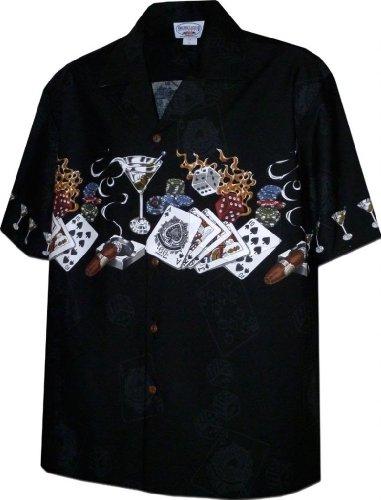 Pacific Legend Texas Hold' Em Gambling Shirts Black XL