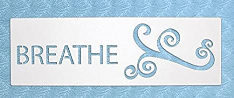 The Bodhi Tribe Breathe Yoga Stencil. Sometimes all you have to do is just breathe. Display this simple yet thoughtful word with a flourish, it will ...