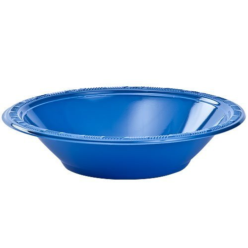 Hanna K. Signature Collection 50 Count Plastic Bowl, 12-Ounce, Blue