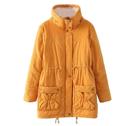 Cotton Plus AngelSpace Coat Outwear Size Wadded Casual Yellow Women's Jacket PFqpFxY