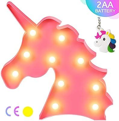 AIZESI White LED Unicorn Night Light Unicorn Neon Lamp Sign,Room Decor,Wall Decor,Battery Operated,Christmas Party Birthday Decorations,as Kids Girls Gifts Unicorn White