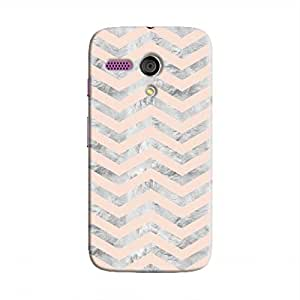 Cover It Up - Silver Pink Tri Stripes Moto G Hard case