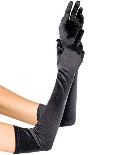 Fasker Womens Satin Evening Gloves 21'' Long Party Dance Elbow Length Opera Gloves Opera Length Black Satin Gloves