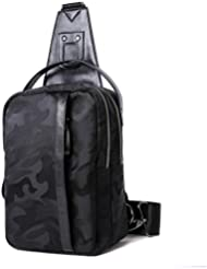Water Resistant Camouflage Sling Chest Shoulder Bag Unbalance Backpack Sack Satchel for Men Outdoor Bike Gym Fanny...
