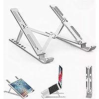 SAETTA Soporte de Aluminio para Laptop de 6 Posiciones Enfriadora Antideslizable, Base Ajustable para iPad, Tablets…