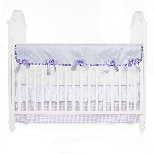 Glenna Jean Cottage Collection Sweet Pea Convertible Crib Rail Protector, Pintuck, Long (Glenna Jean Cotton Top Sheet)