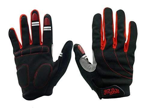 Panegy Winter Competition Grip Fitness Full Finger Gloves With Wrist Wrap For Men Women Red (Competition Full System)