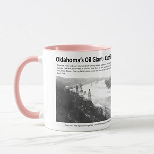 Zazzle Oklahomaâ€s Oil Giant - Cushing Field Coffee Mug, Pink Combo Mug 11 oz Cimarron Combo