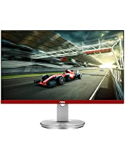 """AOC Limited Edition G2490VXS 24"""" class Frameless Gaming Monitor with Silver Stand, FHD 1920x1080, 1ms 144Hz, FreeSync Premium, 126% sRGB / 93% DCI-P3, 3Yr Re-Spawned zero dead pixels Black photo"""