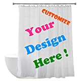 "custom shower curtains  Personalized DIY Custom Fabric Waterproof Mildew Shower Curtains (72"" Wx72 H)-Add Your Own Designs"