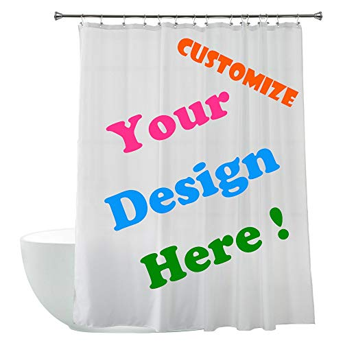 """Personalized DIY Custom Fabric Waterproof Mildew Shower Curtains (72"""" Wx78 H)-Add Your Own Designs"""