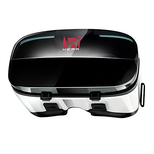 """Virtual Reality Headset - 3D VR Glasses by VR WEAR for iPhone 6/7/8/Plus/X & Samsung S6/S7/S8/Note and other Android Smartphones with 4.5-6.3"""" Screens"""