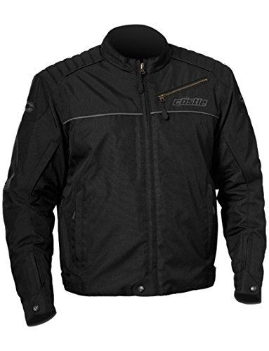 - Castle Classic Mens Motorcycle Jacket - Black - XL