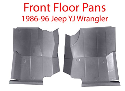 Motor City Sheet Metal - Works With 1986-1996 Jeep YJ Wrangler Front Floor Pans Driver & Passenger Sides New Pair