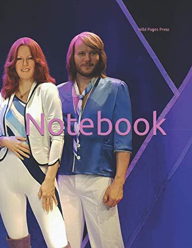 Notebook: pop star stars abba wax figures statue music musician musical instruments dancing LFBT ()