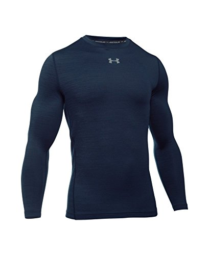 Under Armour Men's ColdGear Armour Twist Compression Crew, Midnight Navy/Steel, Small by Under Armour (Image #3)