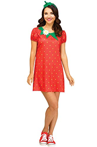Fun World Women's Strawberry Flirty Fruit, red, S/M Size 2-8]()