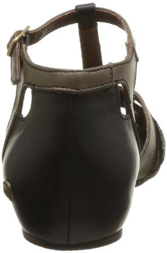 Neosens Cayetana 128 - Sandalias de cuero para mujer, color Negro (Noir (Ebony))