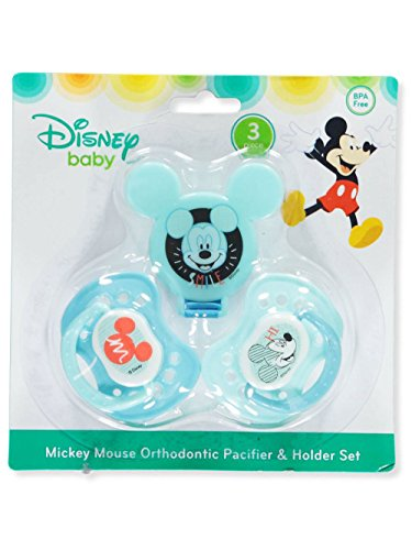 Disney Newborn Pacifier - Disney Mickey Mouse 2 Piece Pacifier and Pacifier Clip Set