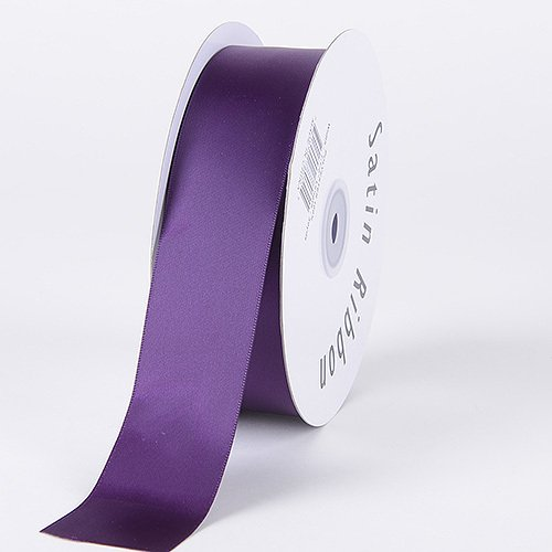 BBCrafts 1-1/2 inch x 50 Yards Satin Ribbon Single Face Decoration Wedding Party (Plum) -