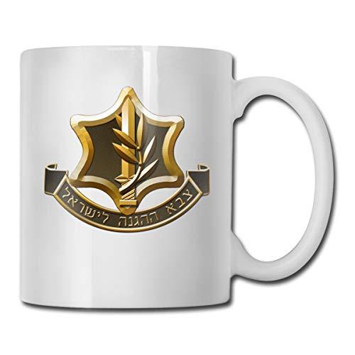 IDF Israeli Defense Force Logo Mug Ceramic with Large C-Handle Coffee Mug Cup ()
