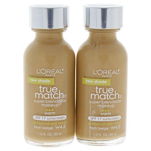 L'Oréal Paris True Match Super-Blendable Foundation Makeup, Fresh Beige, 1 fl. oz.
